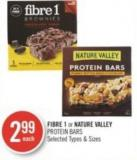 Fibre 1 or Nature Valley Protein Bars