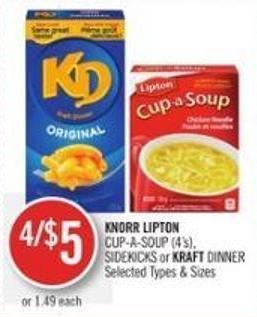 Knorr Lipton  Cup-a-soup (4's) - Sidekicks or Kraft Dinner