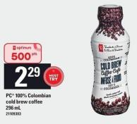 PC 100% Colombian Cold Brew Coffee