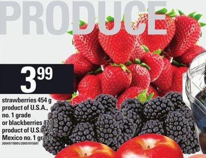 Strawberries - 454 G Or Blackberries - 170 G