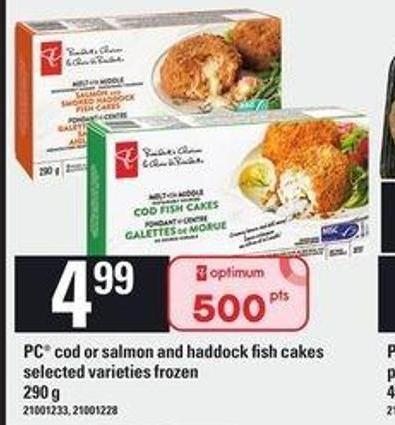 PC Cod Or Salmon And Haddock Fish Cakes - 290 G
