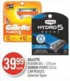 Gillette Fusion (8's - 12's) or Schick Hydro (12's) Cartridges