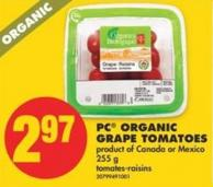 PC Organic Grape Tomatoes - 255 g