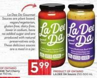 La Dee Da Sauces 250-500 ml