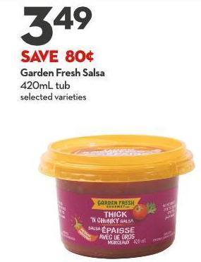 Garden Fresh Salsa 420ml Tub