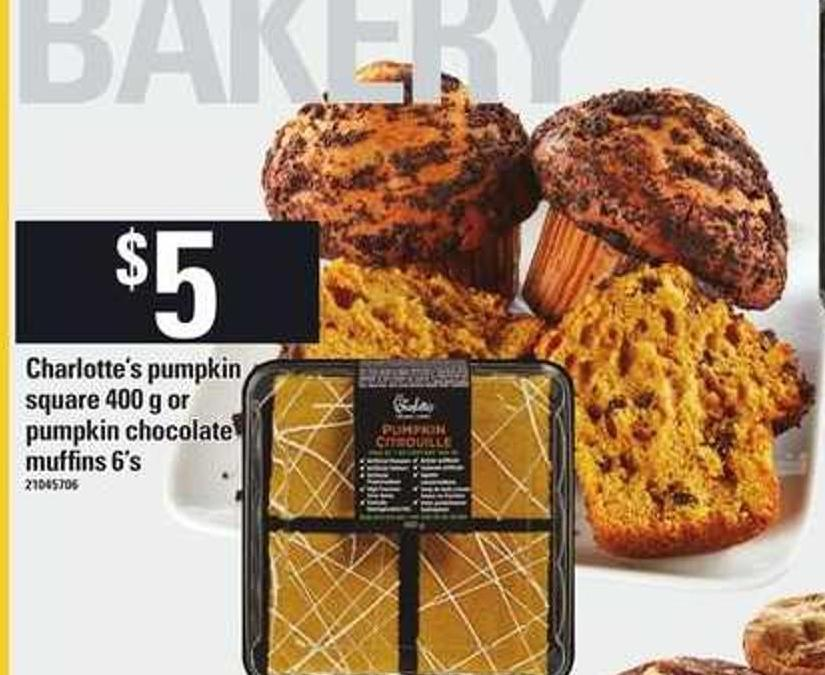 Charlotte's Pumpkin Square - 400 g Or Pumpkin Chocolate Muffins - 6's
