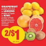 Grapefruit Or Lemons Or Kiwi