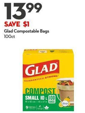 Glad Compostable Bags 100ct