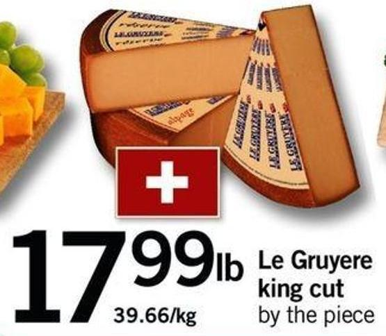 Le Gruyere King Cut