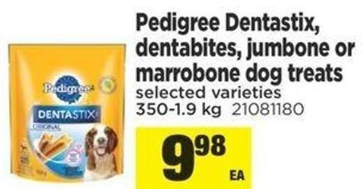 Pedigree Dentastix - Detabites - Jumbone Or Marrobone Dog Treas - 350-1.9kg