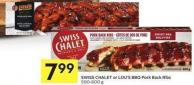 Swiss Chalet or Lou's Bbq Pork Back Ribs 500-600 g
