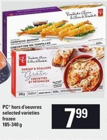 PC Hors D'oeuvres - 185-340 g