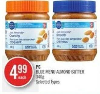 PC Blue Menu Almond Butter 340g