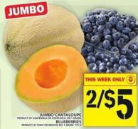 Jumbo Cantaloupe Or Blueberries