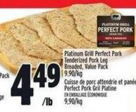 Platinum Grill Perfect Pork Tenderized Pork Leg Breaded - Value Pack