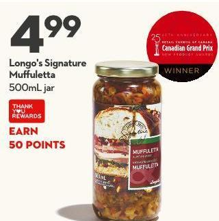 Longo's Signature  Muffuletta 500ml Jar