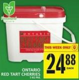 Ontario Red Tart Cherries