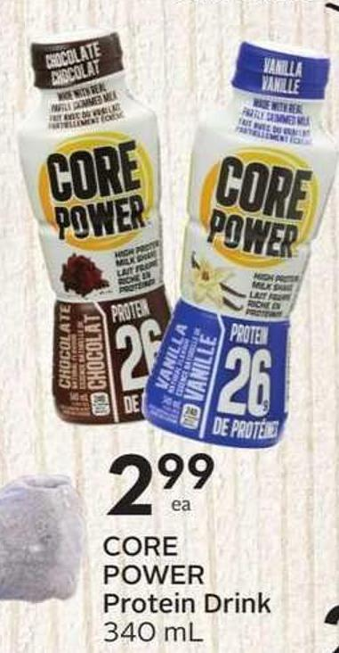 Core Power Protein Drink 340 mL