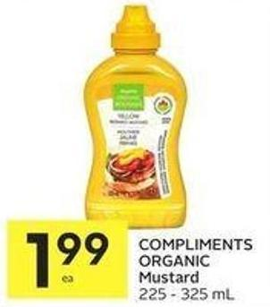 Compliments Organic Mustard