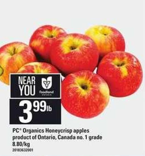 PC Organics Honeycrisp Apples