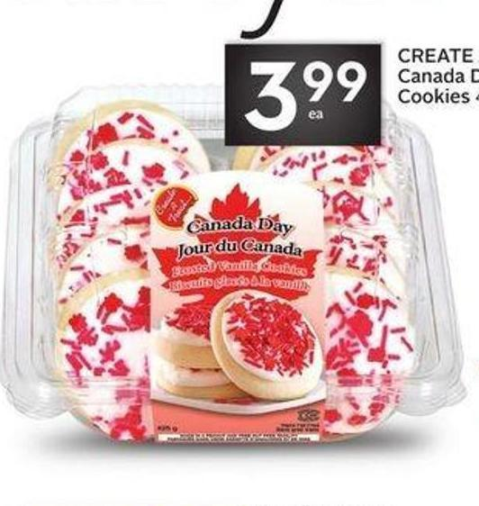 Create A Treat Canada Day Frosted Cookies