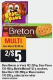 Dare Breton Or Vinta - 132-225 G - Bear Paws - 135-180 G - Bold N Baked - 150 G Crackers - Bear Bare - 150-240 G Or Dare Cookies - 170-285 G