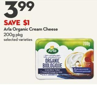 Arla Organic Cream Cheese 200g Pkg