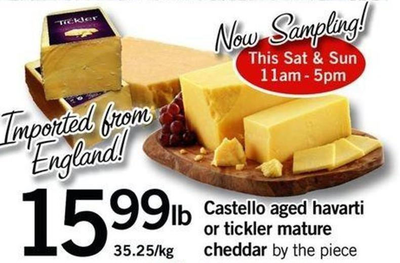 Castello Aged Havarti Or Tickler Mature Cheddar