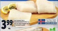 Fresh Icelandic Cod Or Frozen Barramundi Portions 113 g