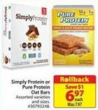 Simply Protein or Pure Protein Oat Bars