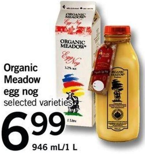 Organic Meadow Egg Nog - 946 Ml/1 L
