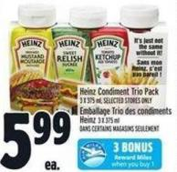 Heinz Condiment Trio Pack 3 X 375 ml