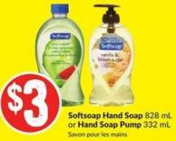 Softsoap Hand Soap 828 mL or Hand Soap Pump 332 mL