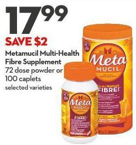 Metamucil Multi-health Fibre Supplement 72 Dose Powder or  100 Caplets