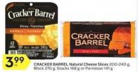 Cracker Barrel Natural Cheese Slices
