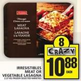 Irresistibles Meat Or Vegetable Lasagna