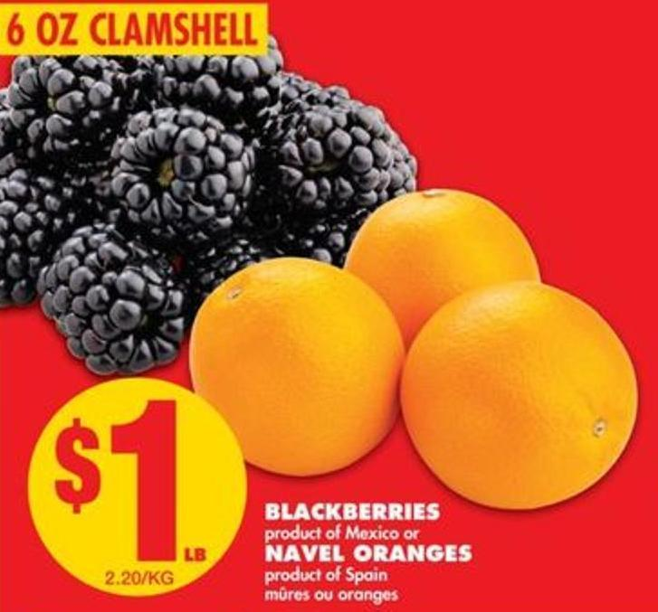 Blackberries Or Navel Oranges
