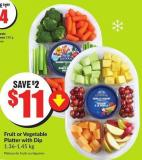 Fruit or Vegetable Platter With Dip 1.36-1.45 Kg