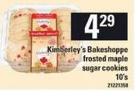 Kimberley's Bakeshoppe Frosted Maple Sugar Cookies - 10's