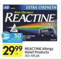 Reactine Allergy Relief Products - 30 Air Miles Bonus Miles