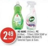 No Name (950ml) - PC (638ml - 739ml) Dish Soap or Vim Cleaning Products