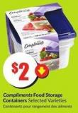 Compliments Food Storage Containers