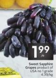 Sweet Sapphire Grapes
