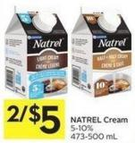 Natrel Cream 5-10% 473-500 mL