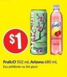 Fruit2o 502 mL Arizona 680 mL