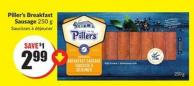 Piller's Breakfast Sausage 250 g