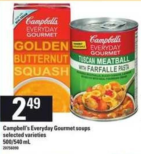 Campbell's Everyday Gourmet Soups - 500/540 Ml