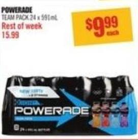 Powerade Team Pack 24 X 591ml