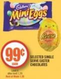 Selected Single Serve Easter Chocolates