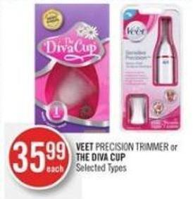 Veet Precision Trimmer or The Diva Cup